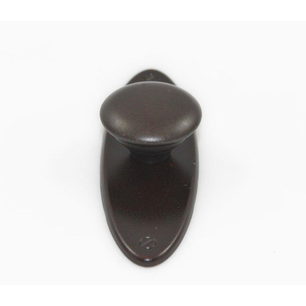 Classic Series 3.74 in. Oil-Rubbed Bronze Knob with Backplate