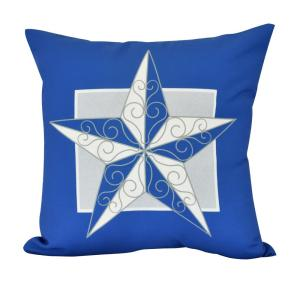 18 inch Night Star Geometric Print Decorative Pillow by