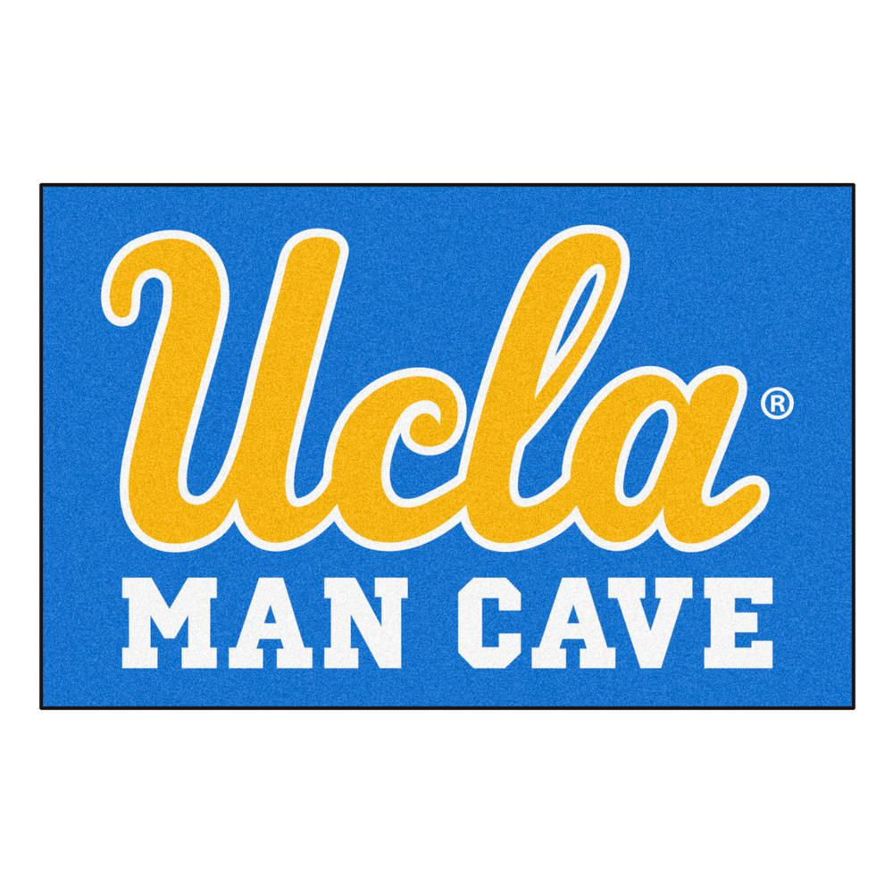 Fanmats Ucla Blue Man Cave 1 Ft 7 In X 2 Ft 6 In Accent Rug 14616 The Home Depot