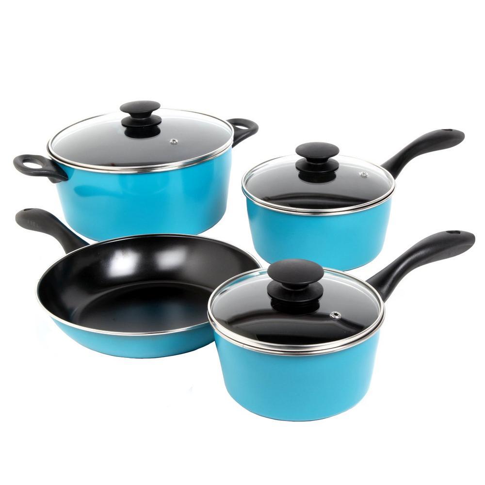 Armington 7-Piece Teal Cookware Set
