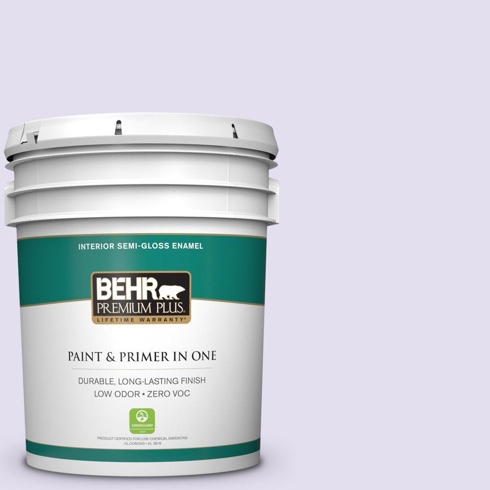 BEHR Premium Plus 5-gal. #P560-1 Blissful Semi-Gloss Enamel Interior Paint