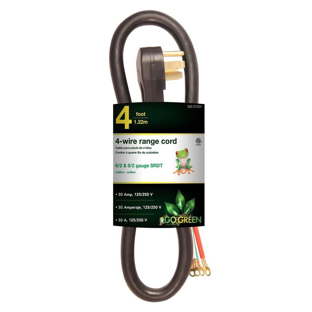 4 ft. 6/1 4-Wire Range Cord