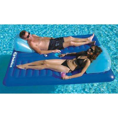 78 in. x 65 in. Blue Face2Face Double Lounger Pool Float