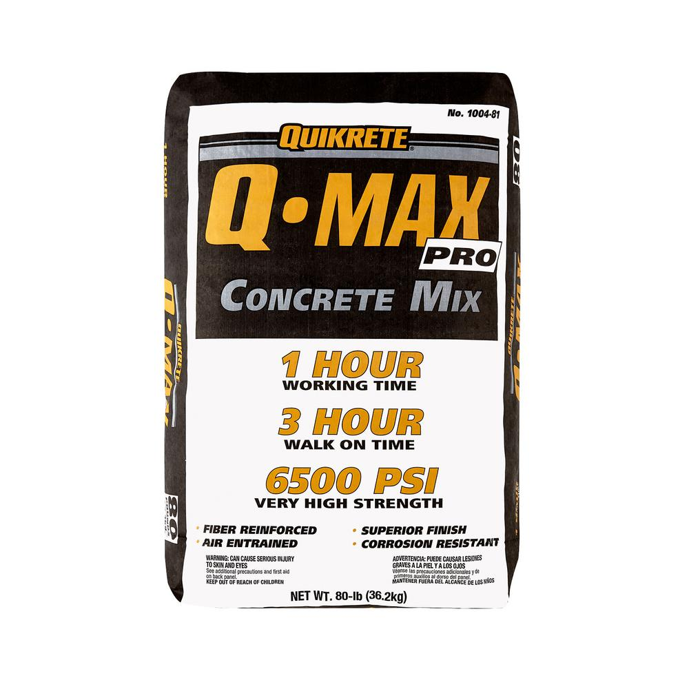 Quikrete Concrete Mix : Quikrete lb q max pro concrete mix the home depot