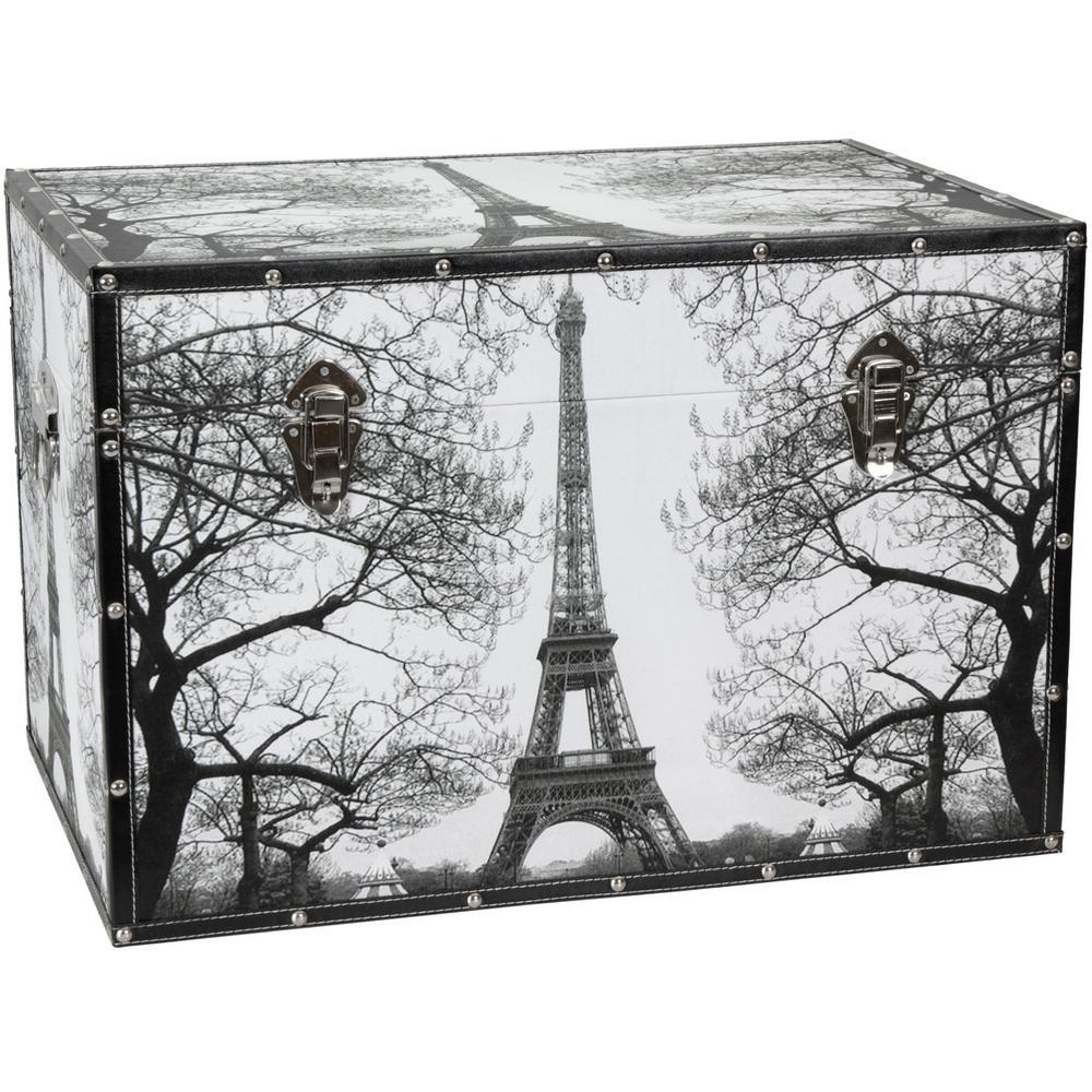 Oriental Furniture Gray Trunk