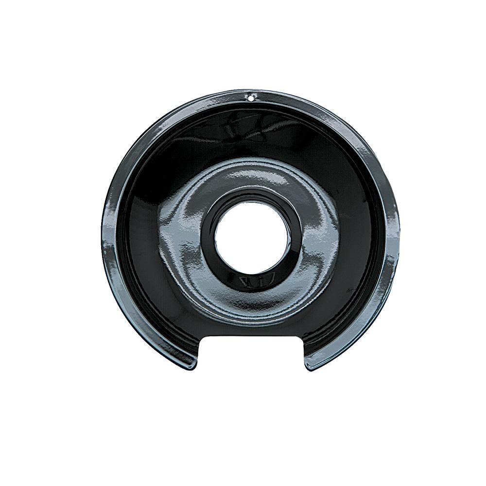 6 in. Drip Pan in Black Porcelain