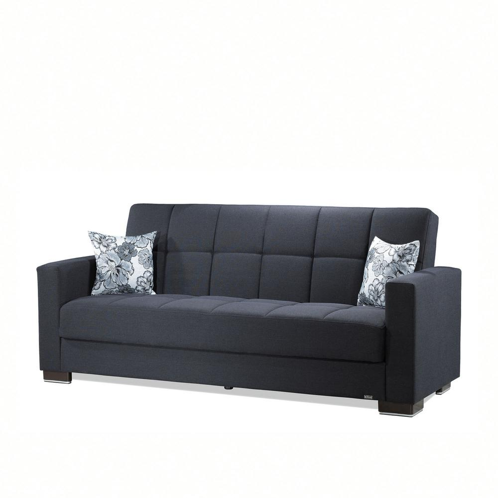 Ottomanson Armada Dark Blue Fabric Upholstery Sofa Sleeper ...