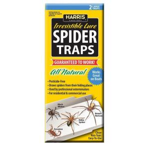 Harris Spider Traps with 25 Irresistible Lures (2-Pack) by Harris