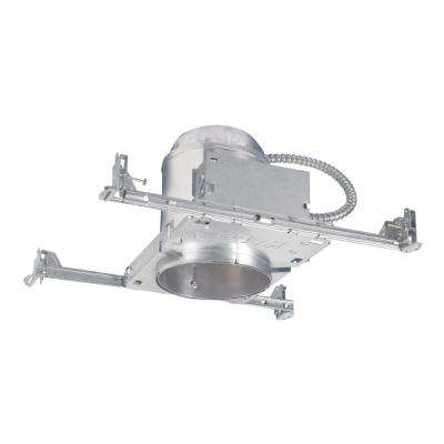 H5 5 in. Raw Aluminum Recessed Light Housing for New Construction Ceiling, Insulation Contact, Air-Tite, No Bracket