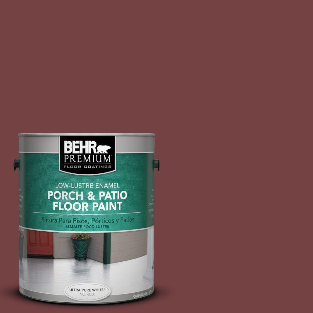 BEHR Premium 1 gal. #PFC-04 Tile Red Low-Lustre Interior/Exterior Porch and Patio Floor Paint