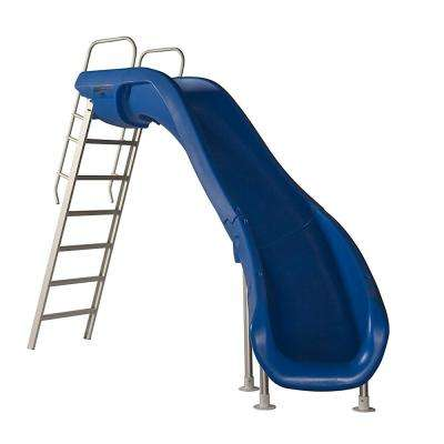 Rogue 2 Marine Blue Pool Slide with Right Turn