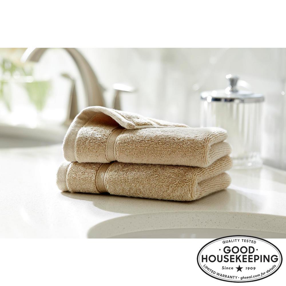 Turkish Cotton Ultra Soft Wash Cloth in Khaki (Set of 2)