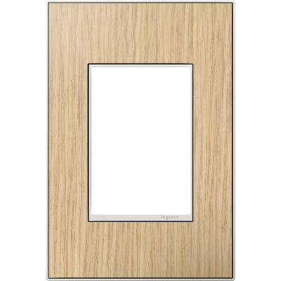 1 Gang 3 Module Wall Plate - French Oak