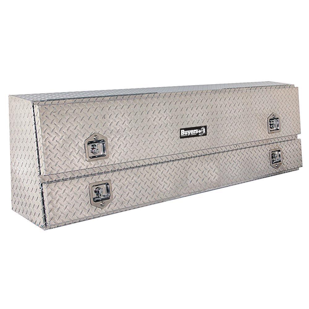 Diamond Tread Aluminum Contractor Truck Box with Doors, 21 in. x 13.5 in. 72 in.