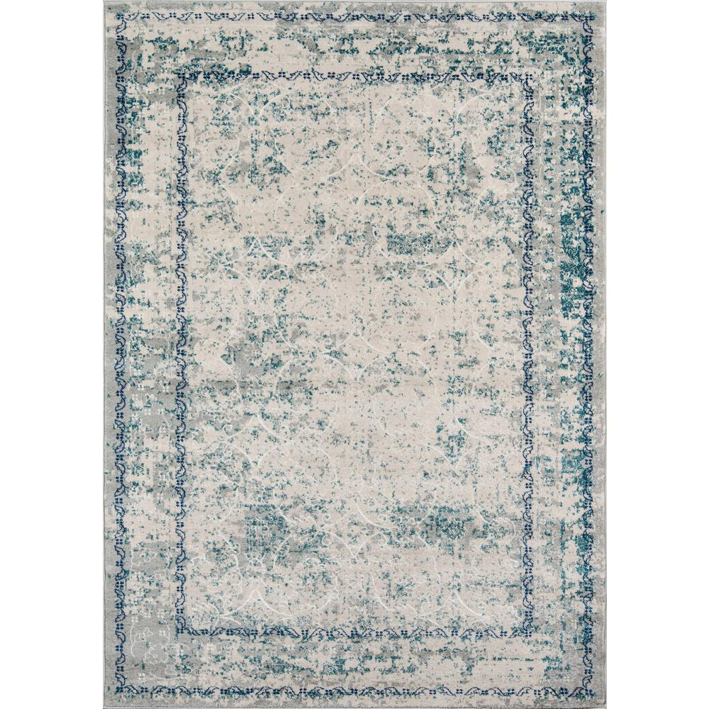 Momeni Luxe Blue 8 Ft X 10 Indoor Area Rug
