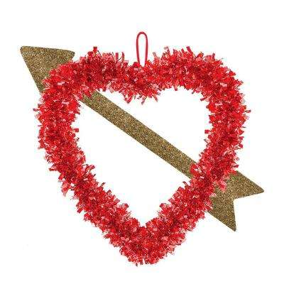14 in. Valentine's Day Heart with Arrow Hanging Decoration (6-Pack)