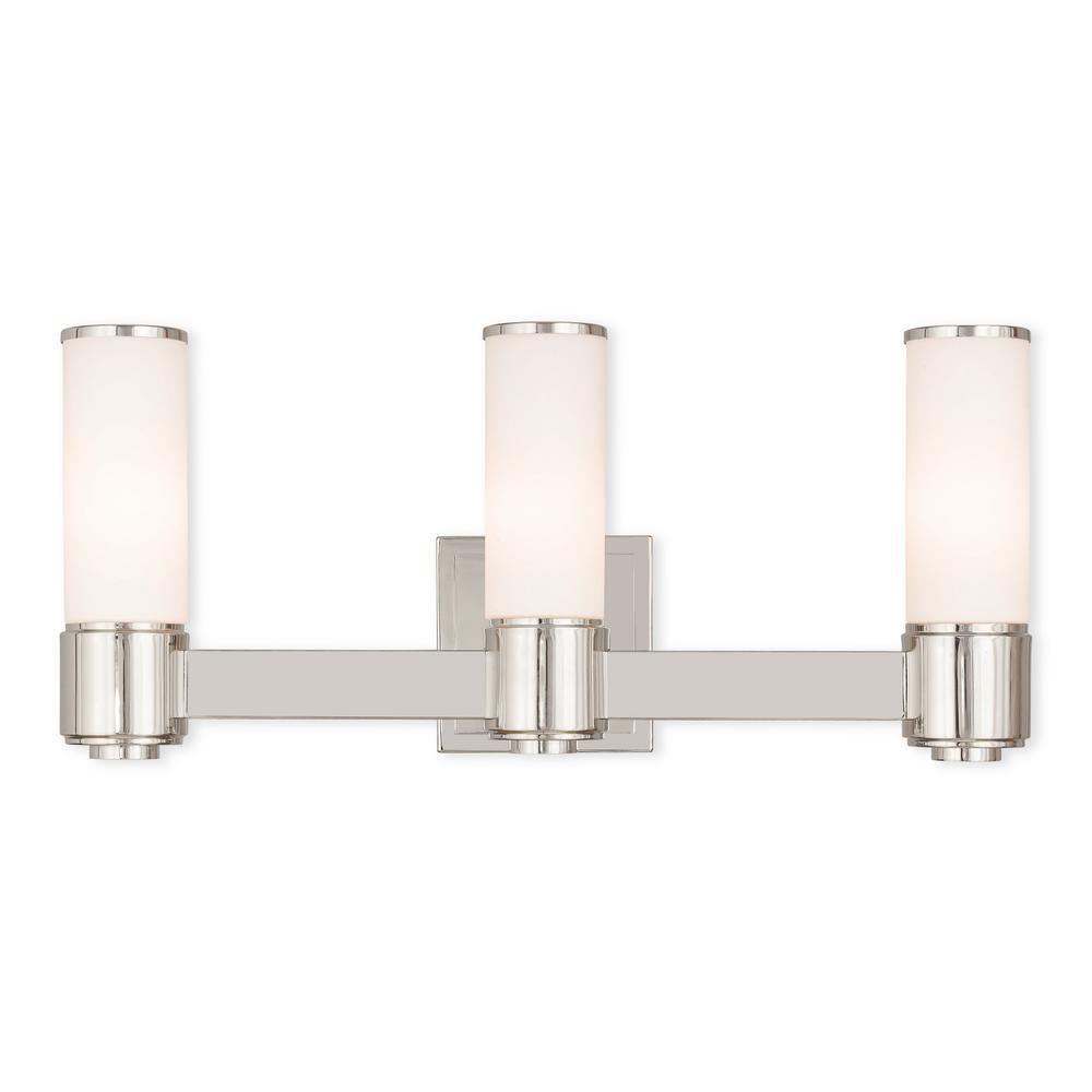 Weston 3-Light Polished Nickel ADA Bath Light