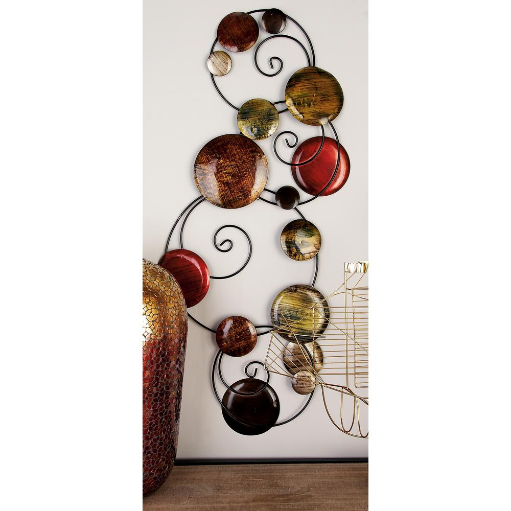 Iron Multi-Colored Abstract Spheres Wall Decor