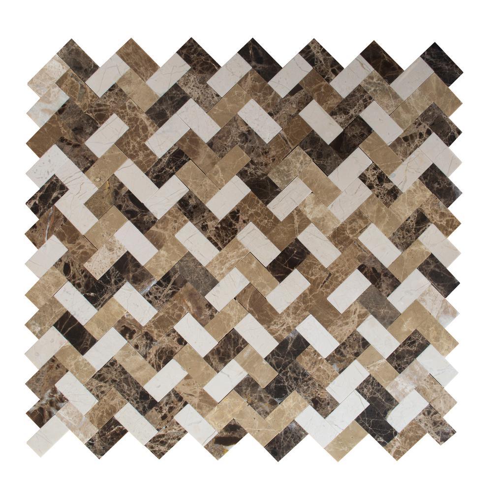 "Glossy *Brown-Mocha* 2"" X 6"" Bullnose Surface Flat Ceramic Tile  NOS 1 pc"