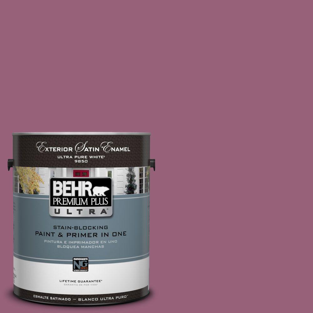 BEHR Premium Plus Ultra 1-Gal. #UL100-17 Forest Berry Satin Enamel Exterior Paint