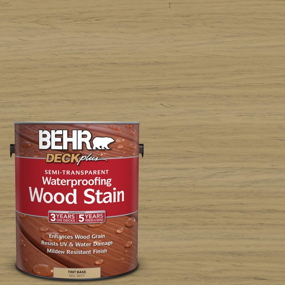 BEHR DECKplus 1 gal. #ST-145 Desert Sand Semi-Transparent Waterproofing Wood Stain