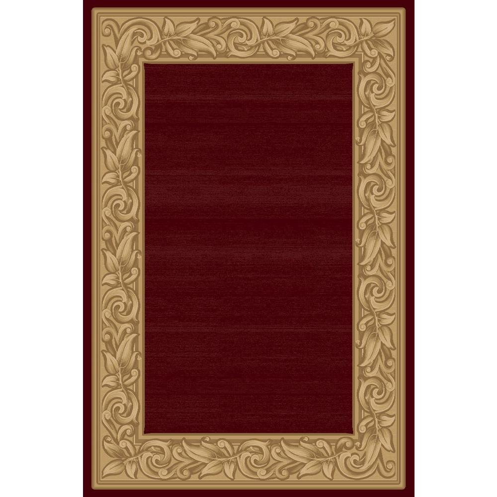 Balta US Elegant Embrace Red 6 ft. 6 in. x 9 ft. 6 in. Area Rug
