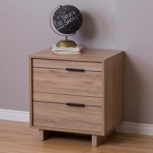Fynn 2-Drawer Rustic Oak Nightstand