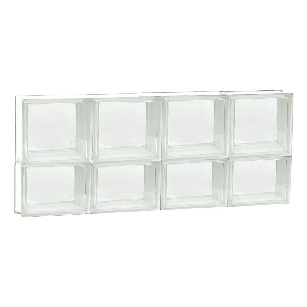 31 in. x 13.5 in. x 3.125 in. Non-Vented Clear Glass