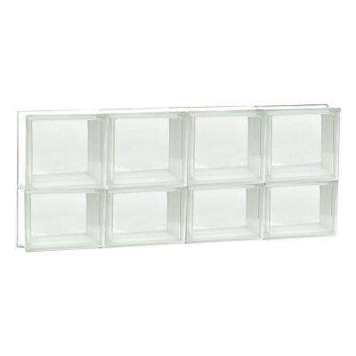 31 in. x 13.5 in. x 3.125 in. Non-Vented Clear Glass Block Window