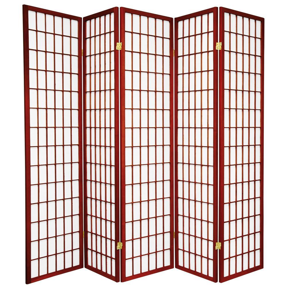 6 ft. Rosewood 5-Panel Room Divider