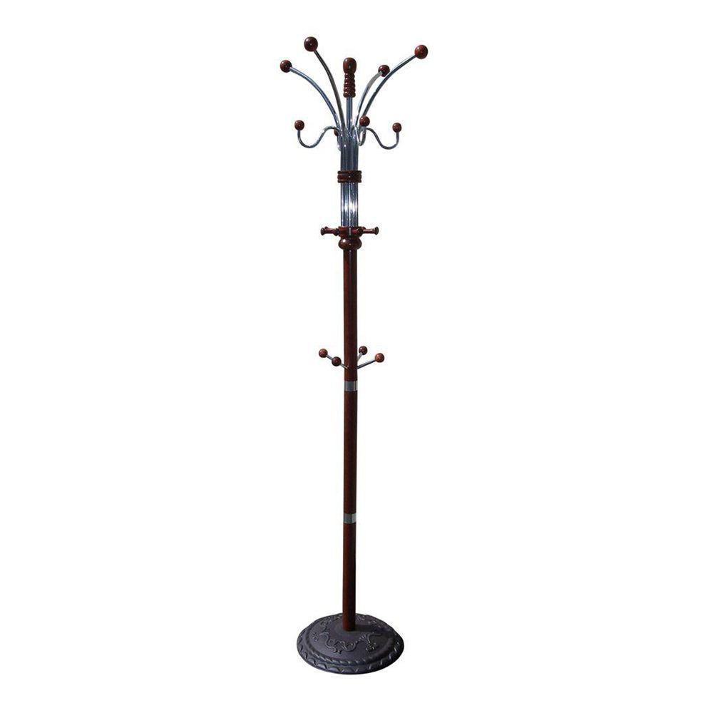 Oreinternational ORE INTERNATIONAL Cherry 12-Hook Coat Rack, Red