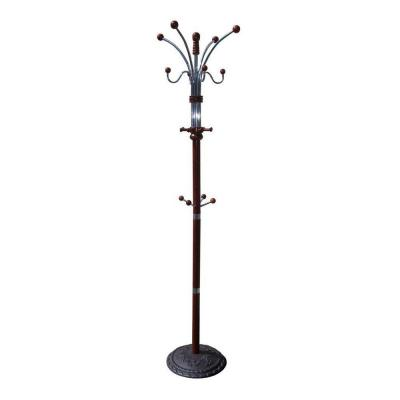 Cherry 12-Hook Coat Rack