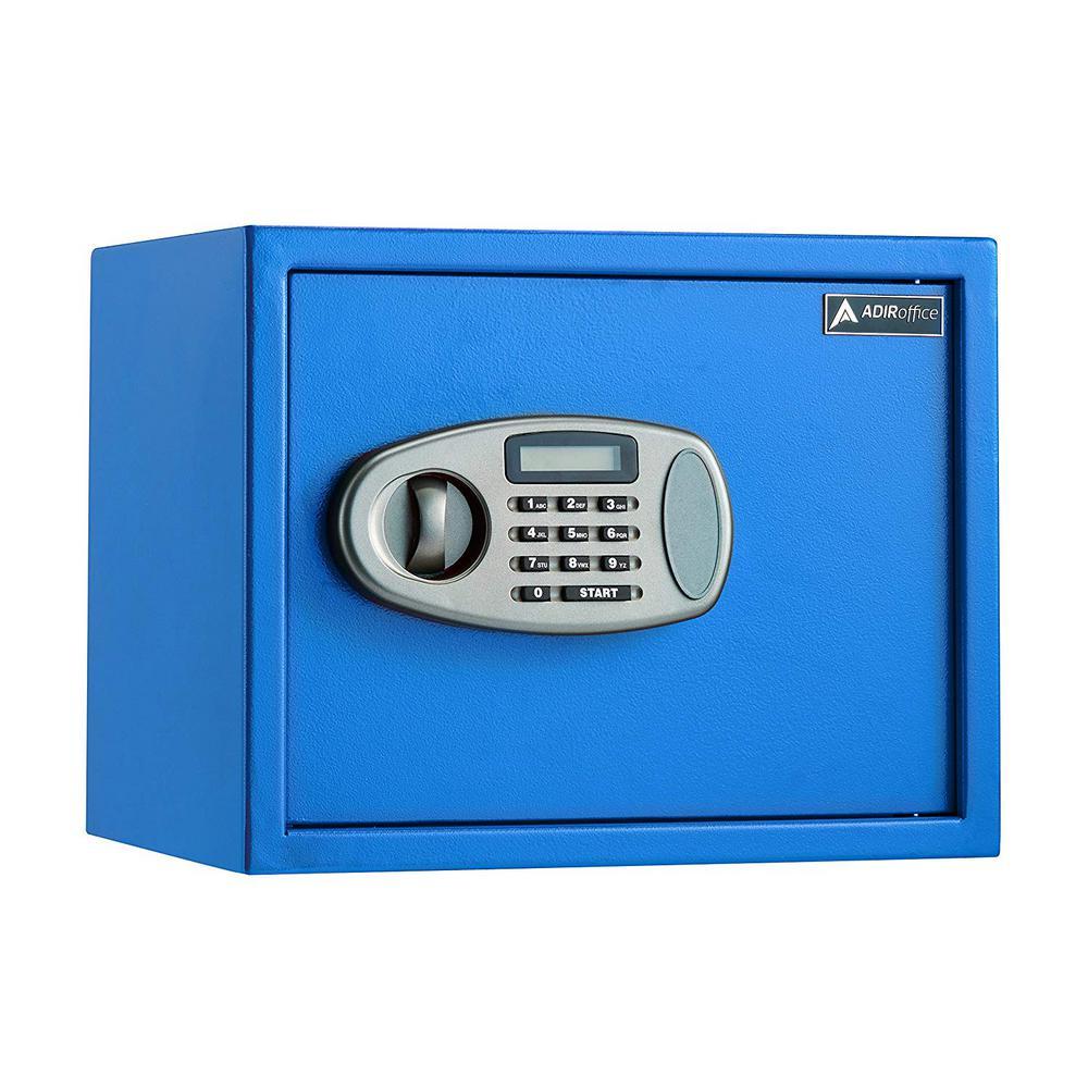 1.25 cu. ft. Steel Security Safe with Digital Lock, Blue