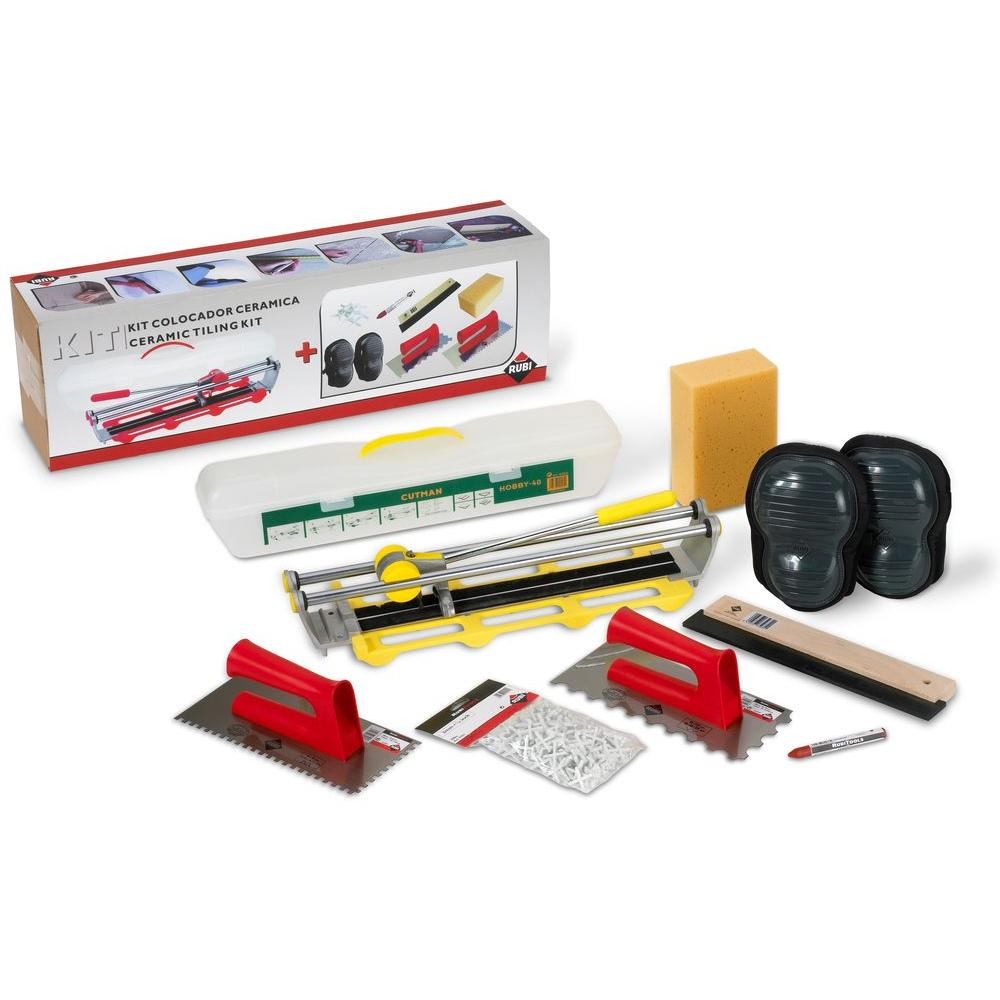 Rubi Ceramic Tiling Kit and Tile Installation Accessories with 17 in. Tile Cutter