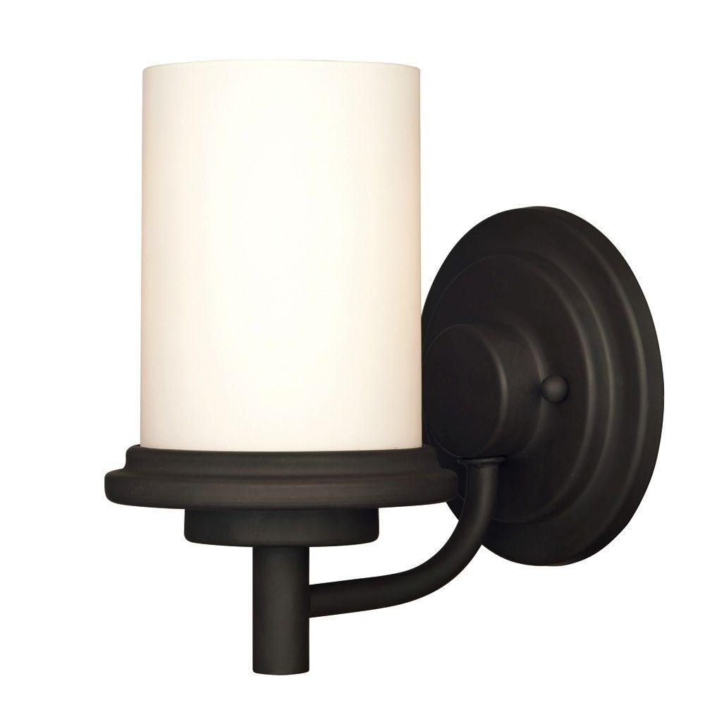 Westinghouse Gatehouse Tower 1-Light Weathered Bronze Wall Fixture
