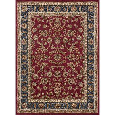 Sensation Red 7 ft. 10 in. x 10 ft. 6 in. Transitional Area Rug