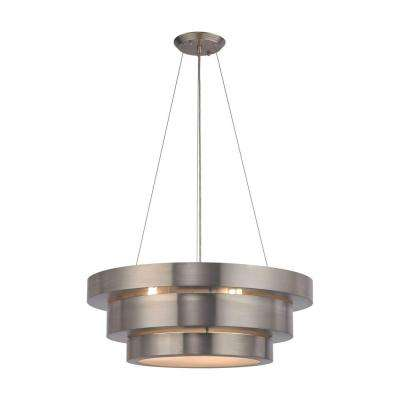 Layers 3-Light Brushed Stainless Chandelier