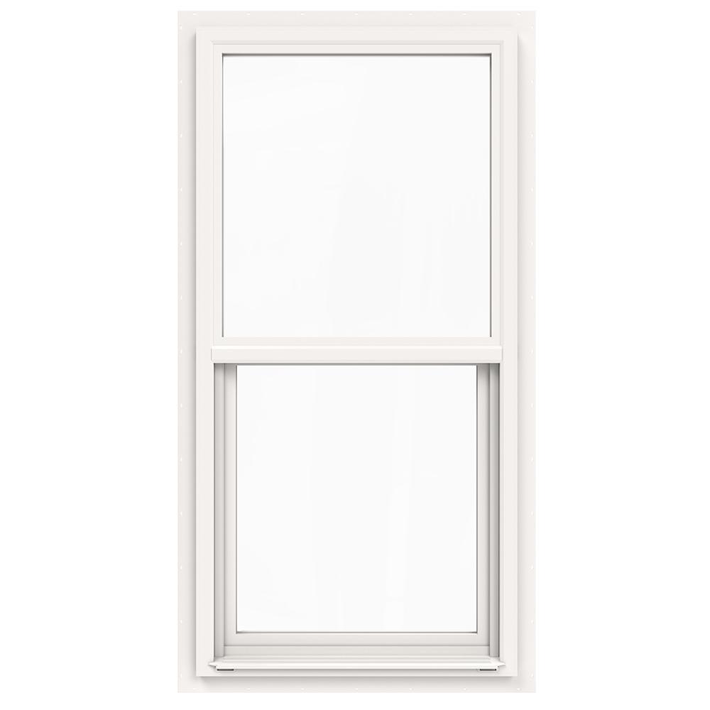 24 in. x 48 in. V-4500 Series White Single-Hung Vinyl Window with Fiberglass Mesh Screen