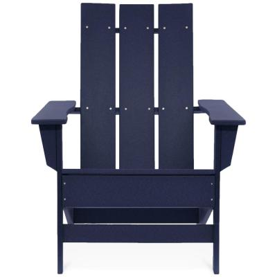 Aria Navy Recycled Plastic Modern Adirondack Chair