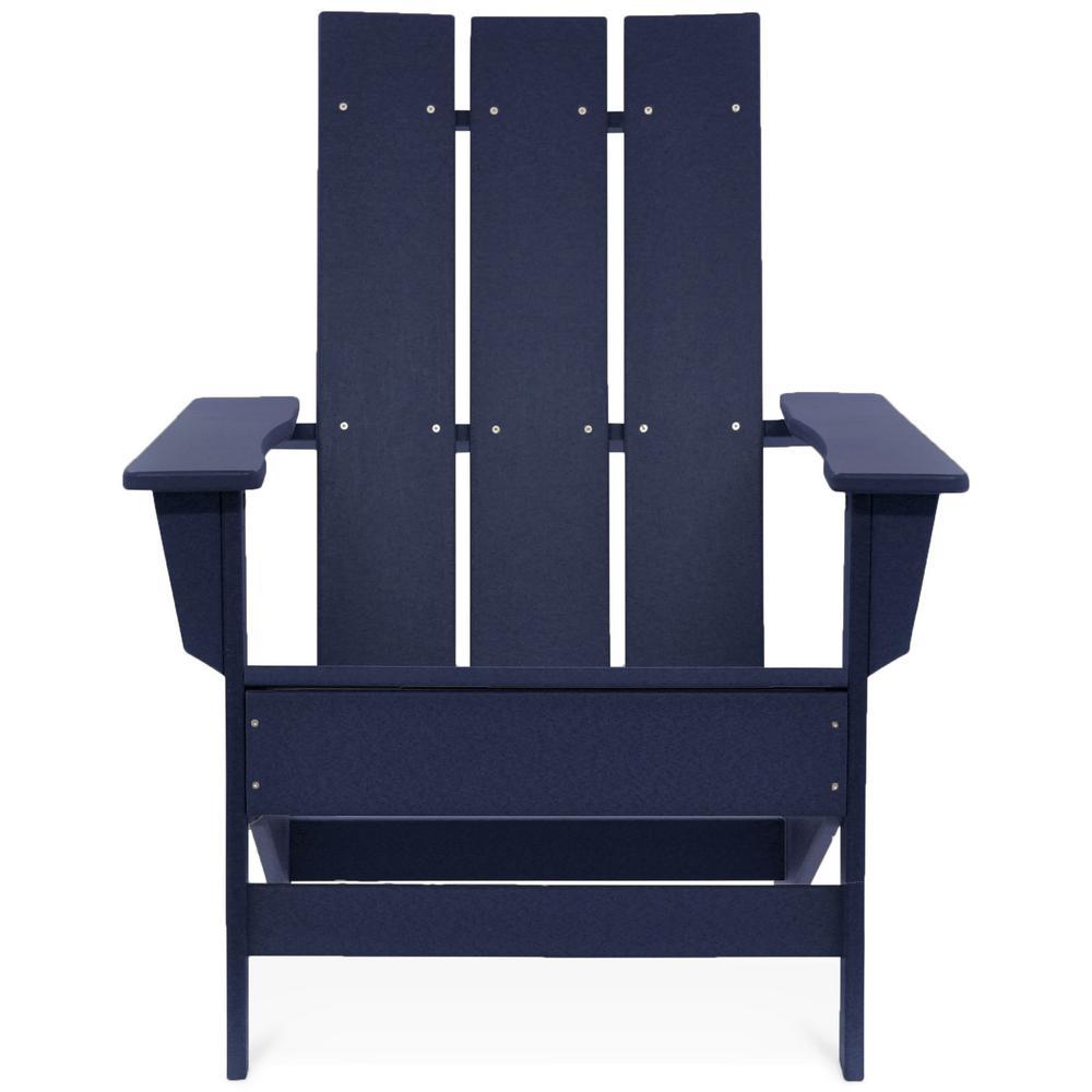 Aria Navy Recycled Plastic Modern Adirondack Chair