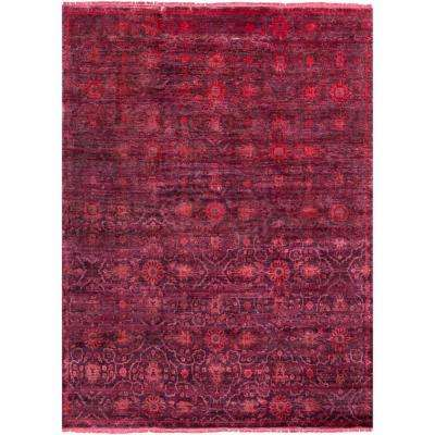 Arevalo Burgundy 8 ft. x 11 ft. Area Rug