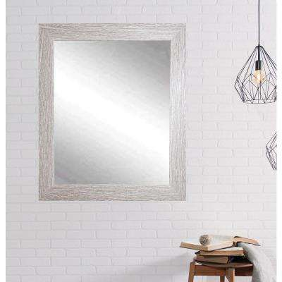 Rich Rustic Rectangle Brown/White Decorative Wall Mirror