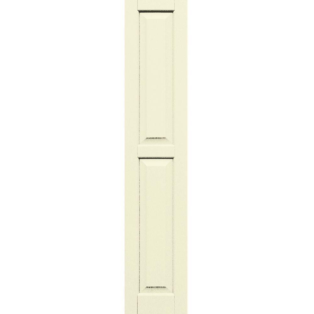 Winworks Wood Composite 12 in. x 62 in. Raised Panel Shutters Pair #651 Primed/Paintable