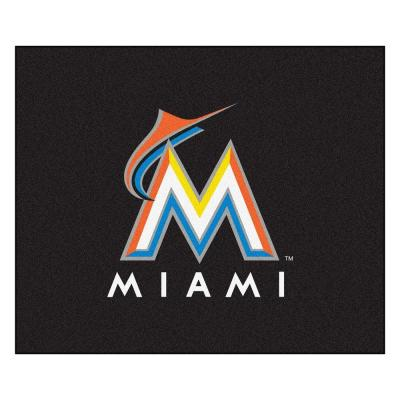 Miami Marlins 5 ft. x 6 ft. Tailgater Rug