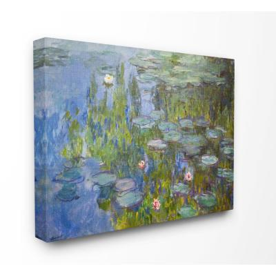 """16 in. x 20 in. """"Monet Impressionist Lilly Pad Pond Painting"""" by Claude Monet Canvas Wall Art"""