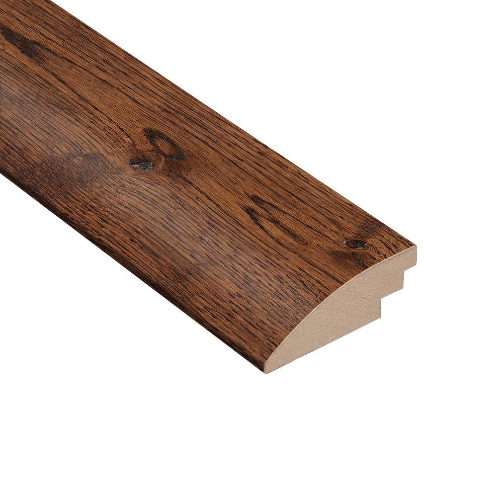 Wire Brushed Gunstock Oak 3/8 in. Thick x 2 in. Wide