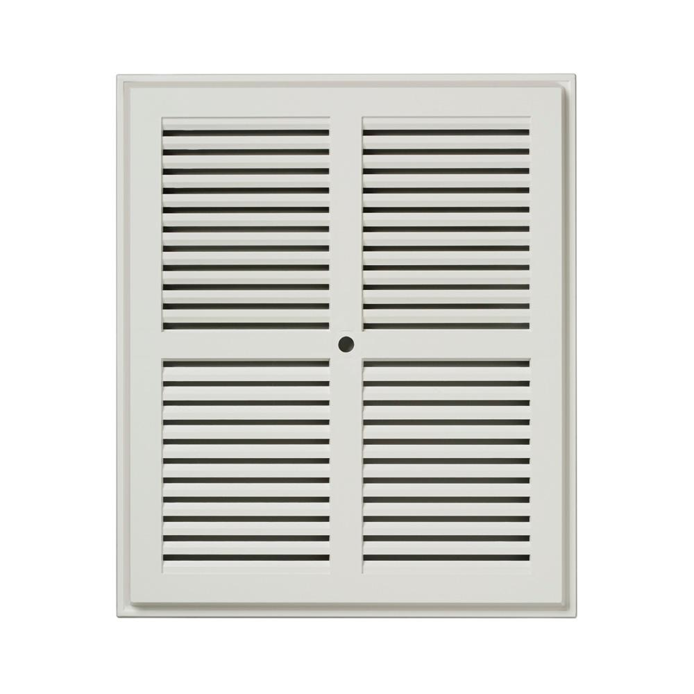 NuTone 10-10/16 in. x 8-15/15 in. Replacement Grille in White
