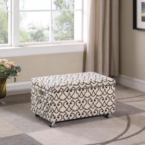 Astonishing Beige Moroccan Heart Black Stencil Storage Bench Hb4791 Pdpeps Interior Chair Design Pdpepsorg