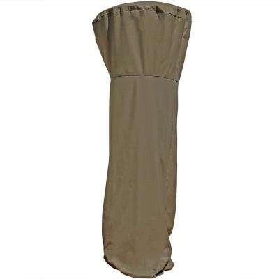 94 in. Khaki Waterproof Fabric Outdoor Patio Heater Cover