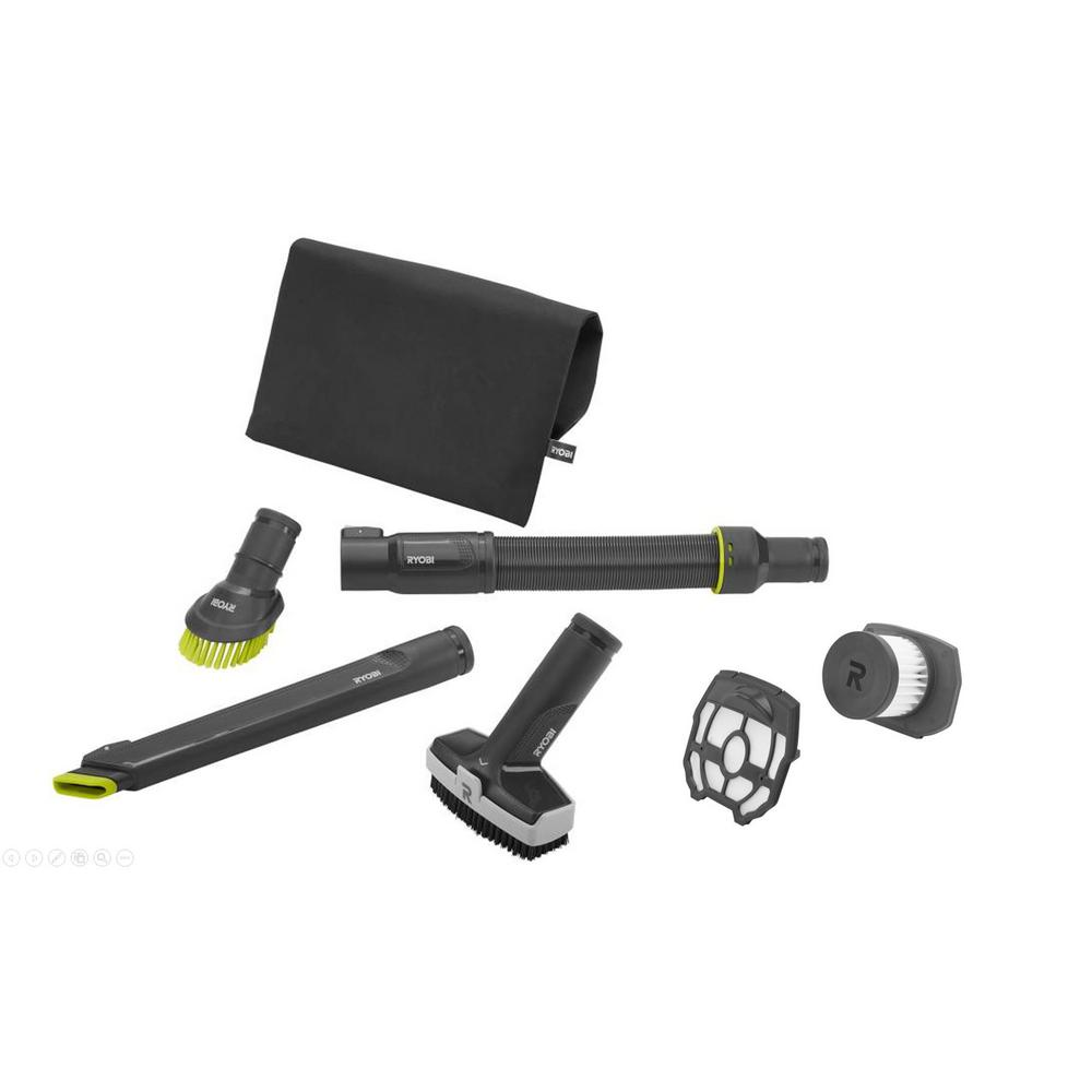 Ryobi P718 Vacuum Accessory Kit And Replacement Filter Assembly For Ryobi Stick Vacuum Cleaner 4 Piece A32sv02 A32sv04 The Home Depot